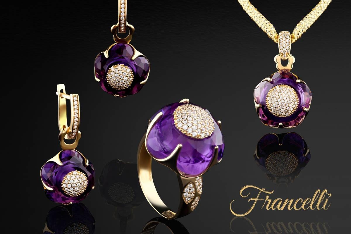 ТМ Francelli – золотые украшения в стиле неоклассика