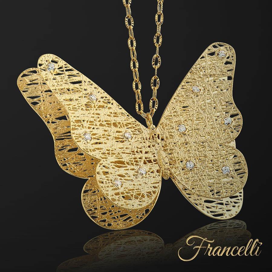 золотая бабочка Francelli