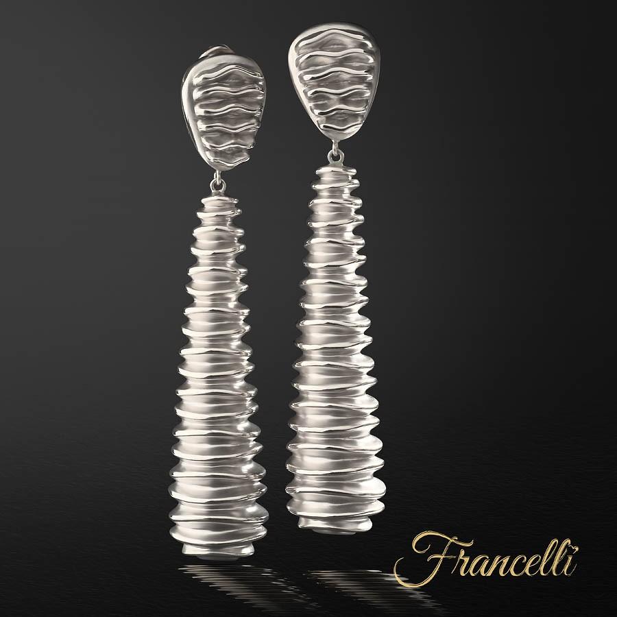 Серьги из белого золота Francelli