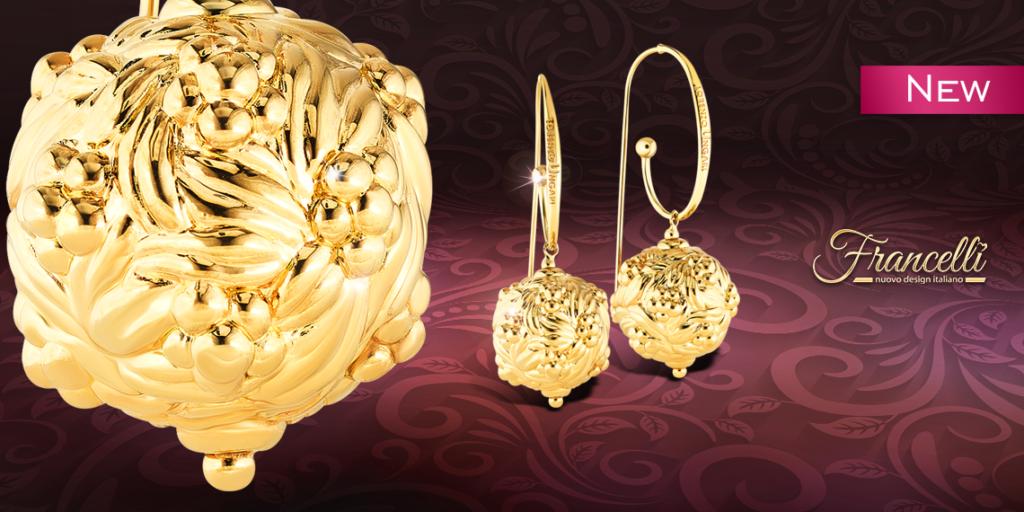 Серьги-подвески из желтого золота (арт. 107774ж)