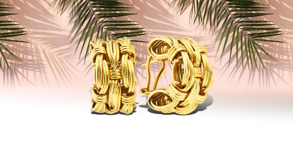 Золотые серьги Francelli в желтом цвете (арт. 107798ж)